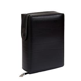 Kunstledereinband 1 Bände schwarz mit Reißverschluß s1