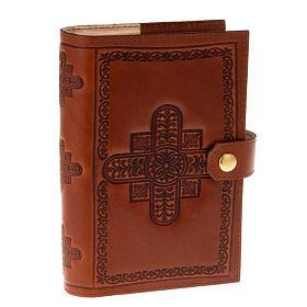 Couvertures liturgie des heures 4 vol.: Etui 4 vol. cuire croix décorées