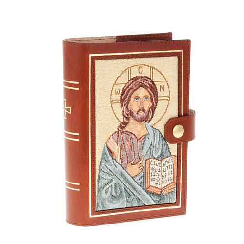 Custodia 4 vol. vera pelle Pantocratore Madonna bimbo 1