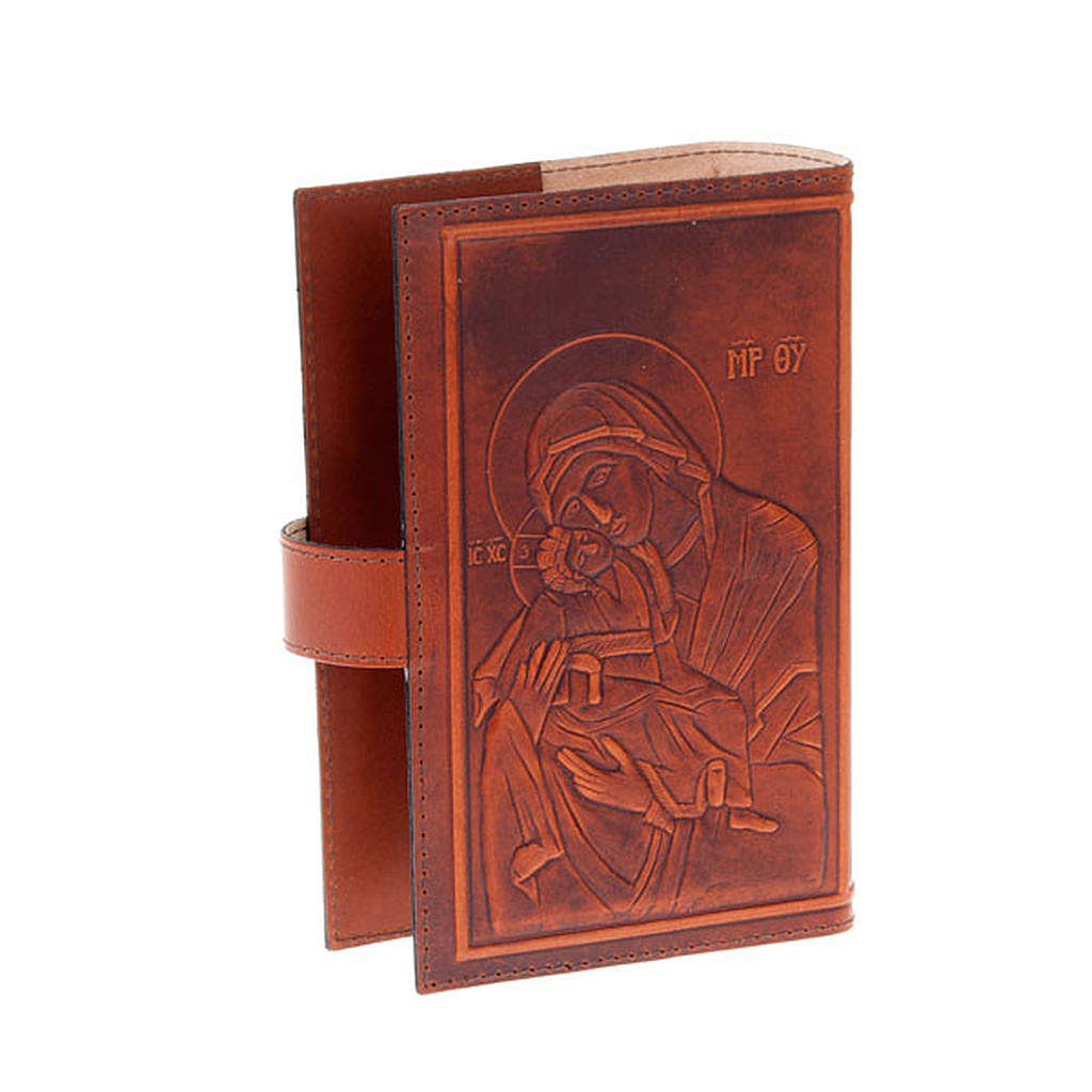 Étui 4 vol. cuir Christ Vierge avec Jésus 4