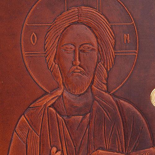 Étui 4 vol. cuir Christ Vierge avec Jésus 2