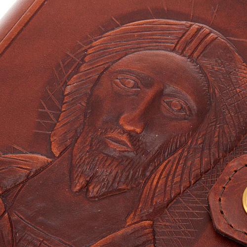 Etui 4 vol. cuire, visage du Christ 3