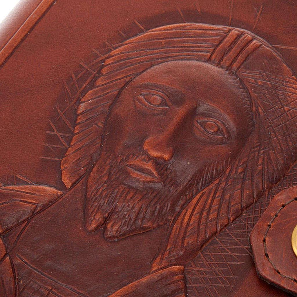 Copertina 4 vol. vera pelle volto di Cristo 4