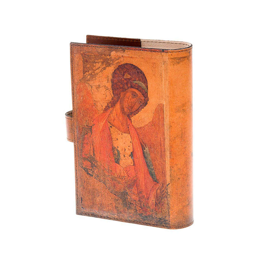 Copertina 4 vol. vera pelle icona Pantocratore angelo 4