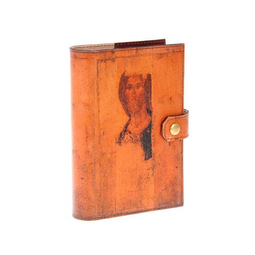 Copertina 4 vol. vera pelle icona Pantocratore angelo 1