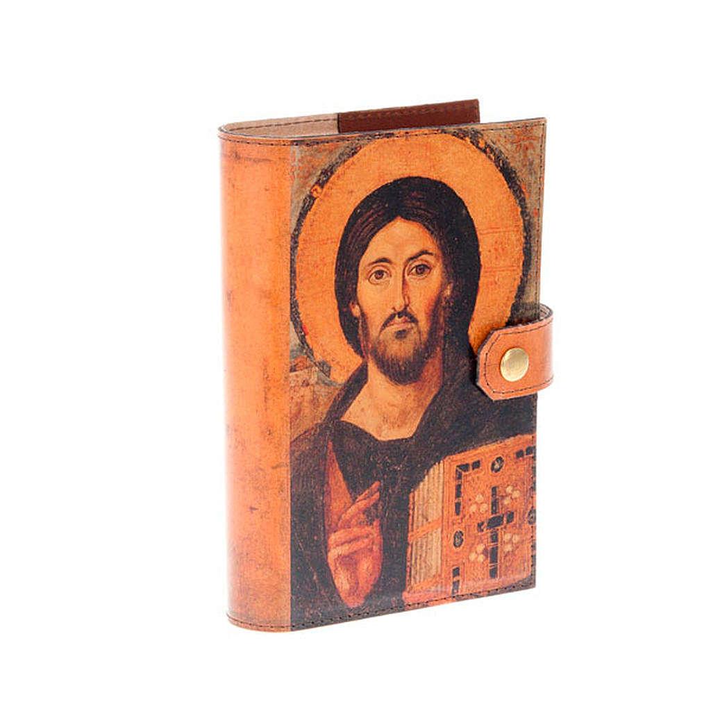 Copertina 4 vol. vera pelle icona Pantocratore 4