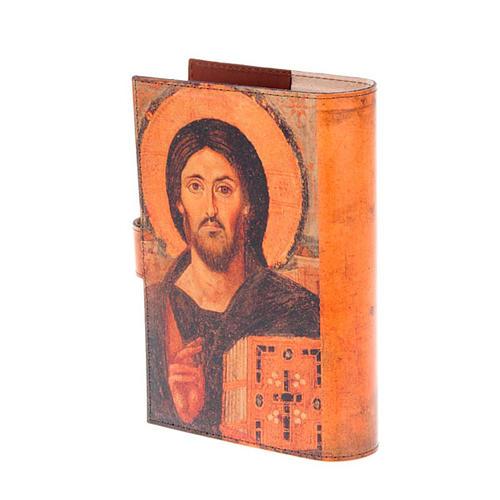 Copertina 4 vol. vera pelle icona Pantocratore 3