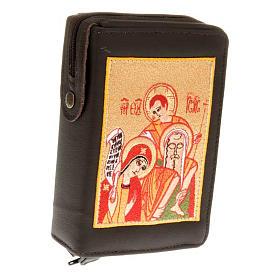 Capa Liturgia das Horas 4 volumes Sagrada Família vermelho s1
