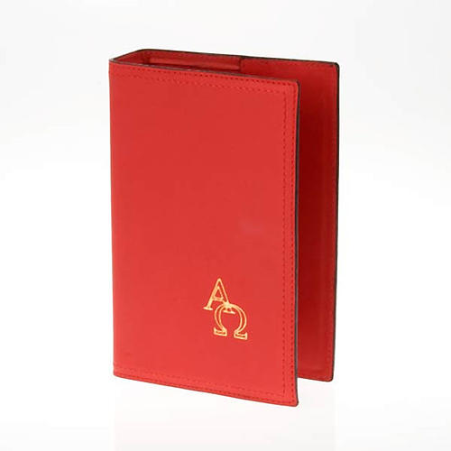 Cover for Benedictional in leather, Alpha Omega 1