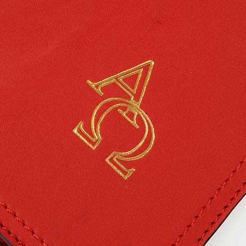 Cover for Benedictional in leather, Alpha Omega 2