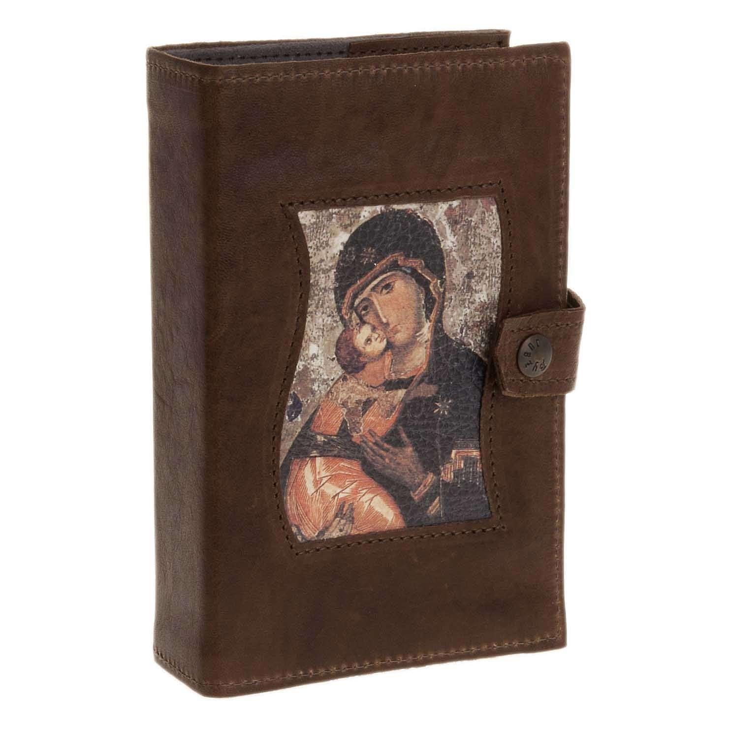 Couverture liturgie 4 vol. cuir Vierge à l'enfant 4