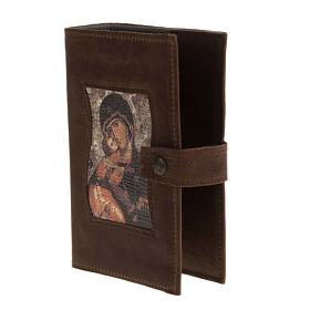 Couverture liturgie 4 vol. cuir Vierge à l'enfant s2