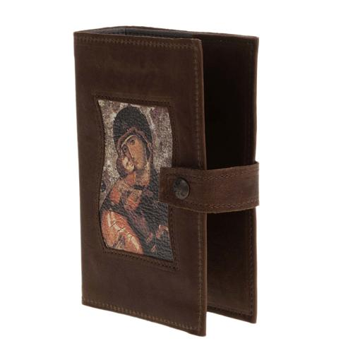 Couverture liturgie 4 vol. cuir Vierge à l'enfant 2