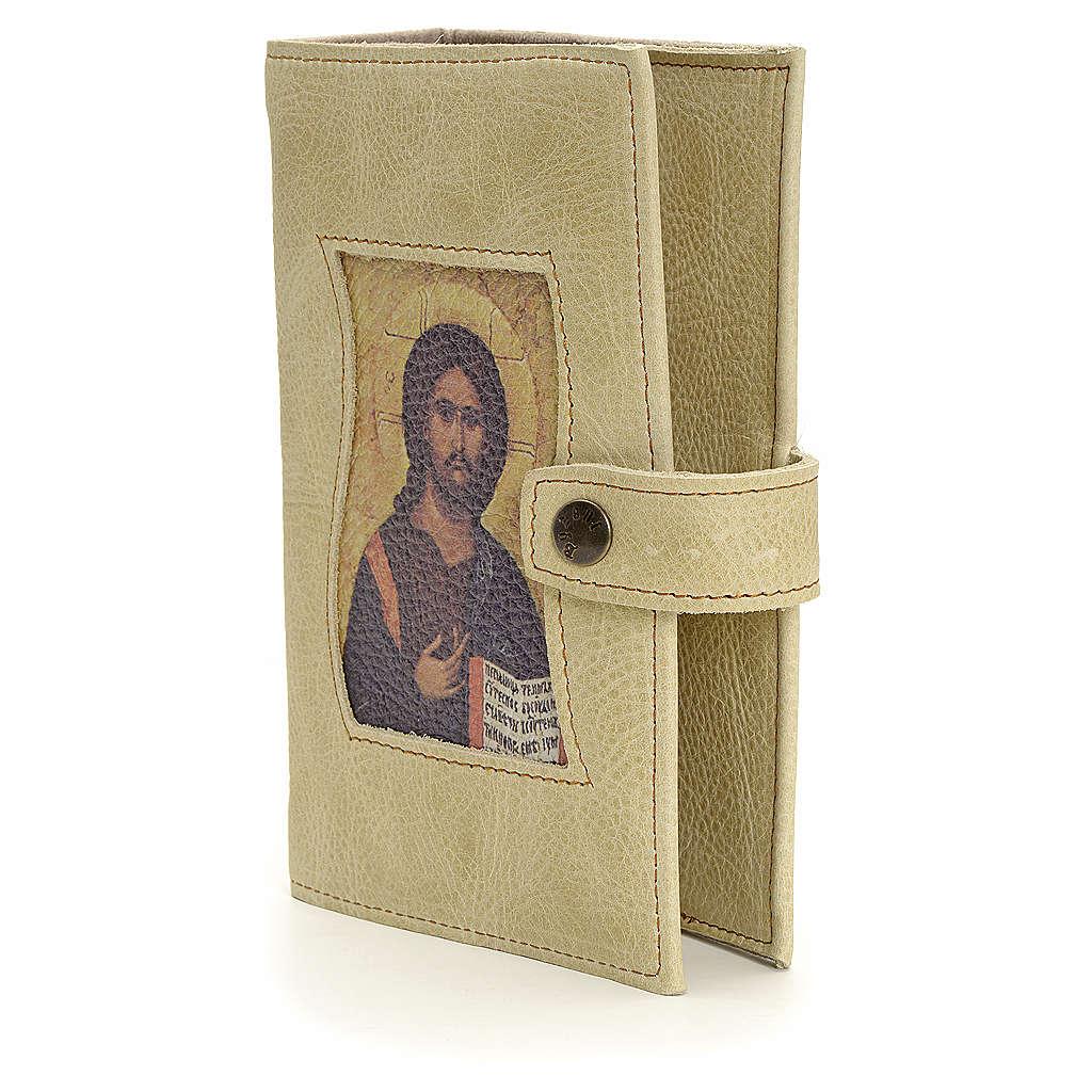 Couverture liturgie 4 vol. cuir clair Christ Pantocrator 4