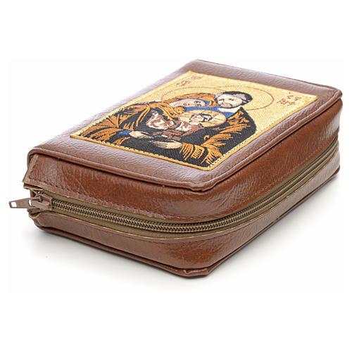 Couverture liturgie des heures 4 vol. marron Sainte Famille 3