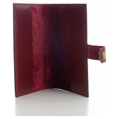 Copri liturgia 4 vol. vera pelle bordeaux croci decorate 3