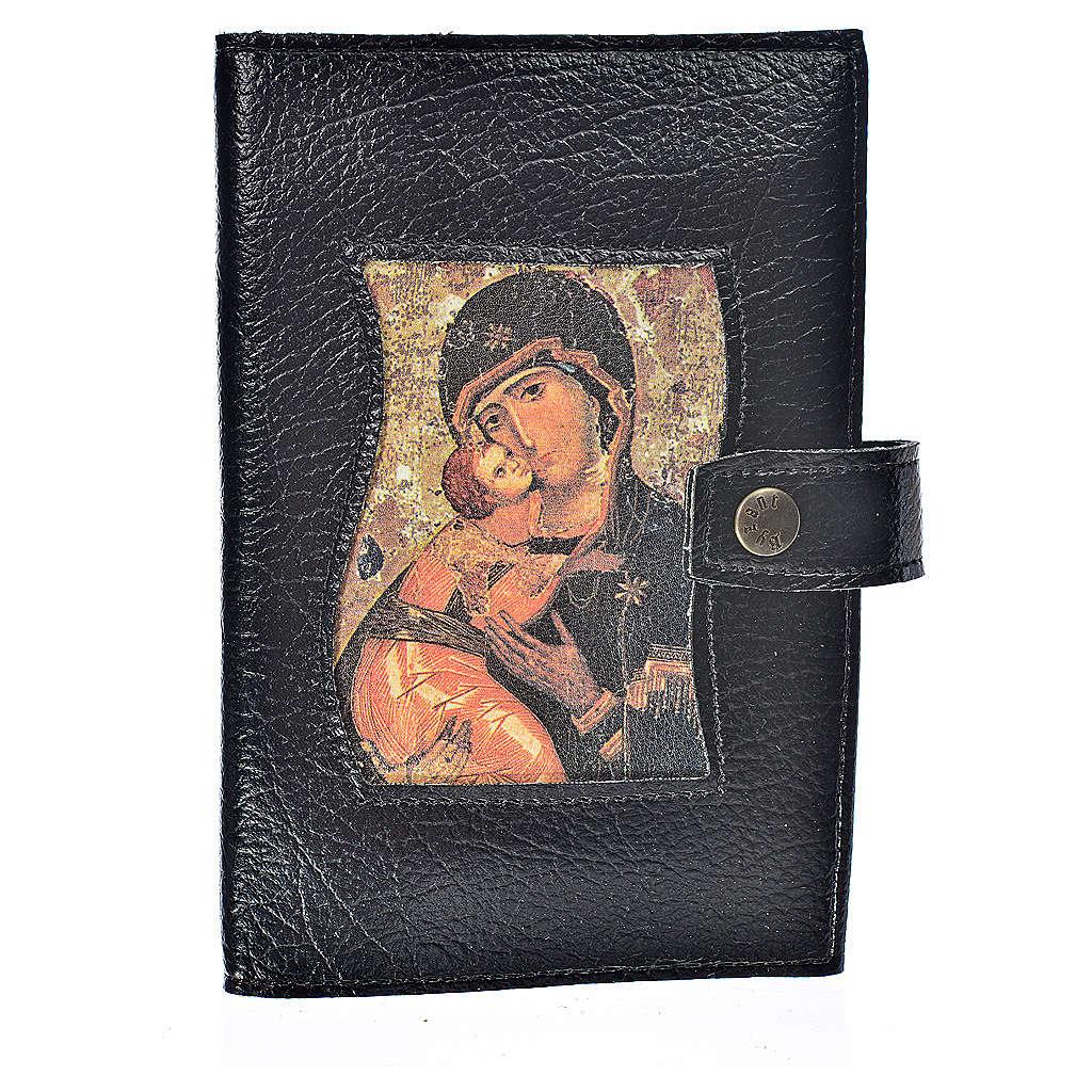 Funda lit. de las horas 4 vol. Virgen con Niño símil cuero 4