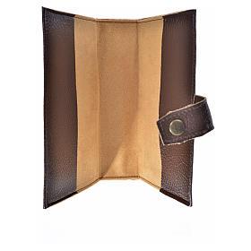 Funda lit. de las horas 4 vol. Trinidad símil cuero marrón oscur s6