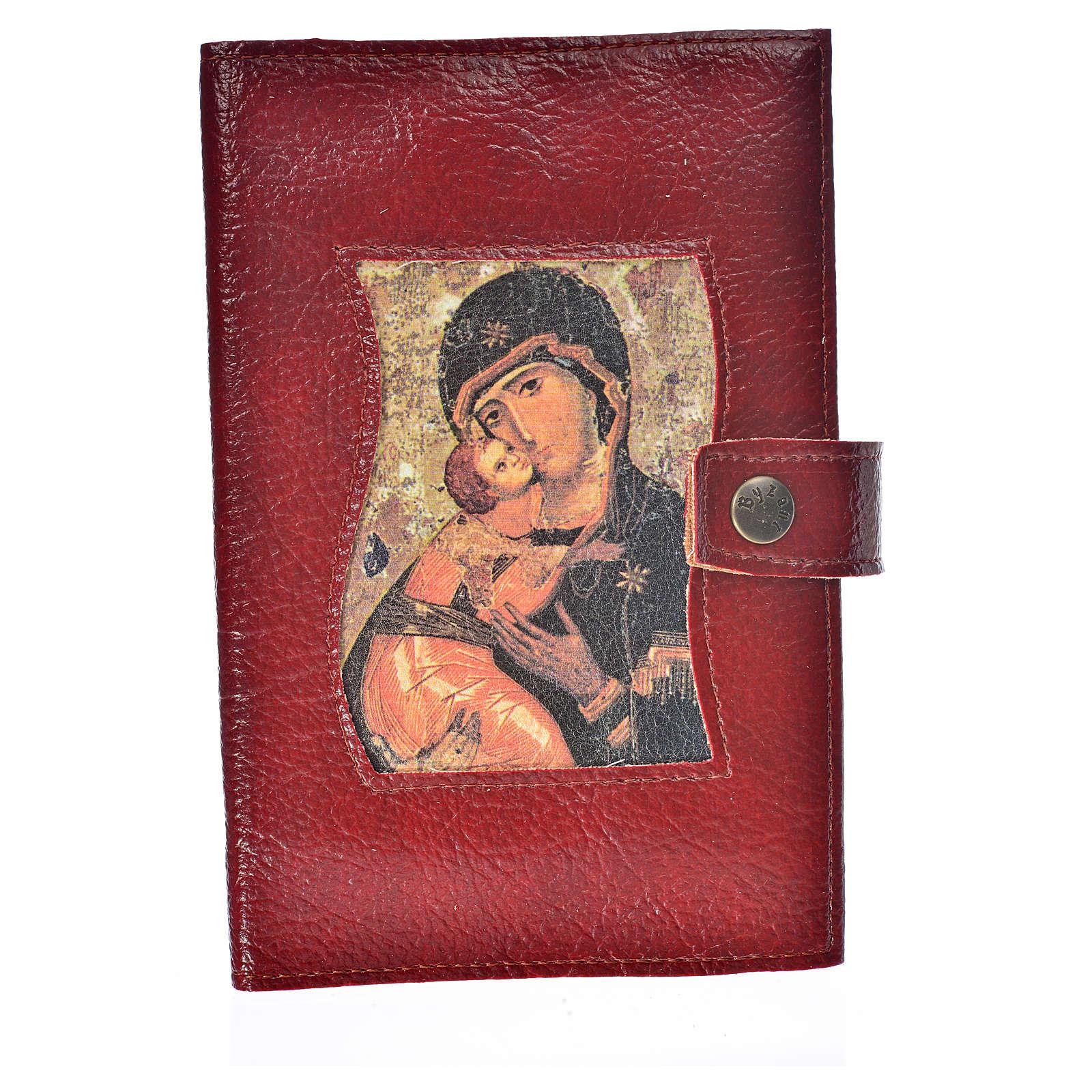 Funda lit. de las horas 4 vol. símil cuero botón Virgen 4