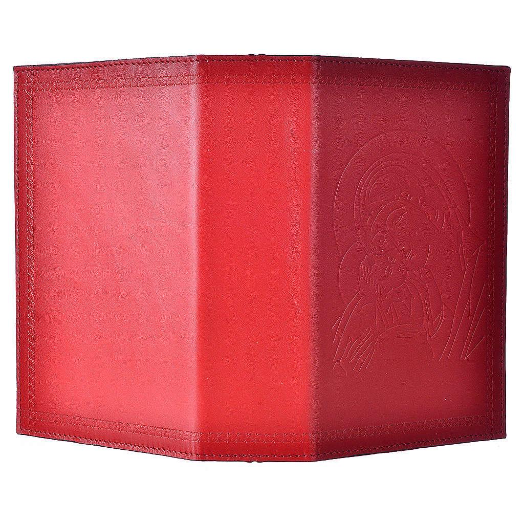 Custodia lit ore 4 vol pelle rosso Madonna bimbo 4