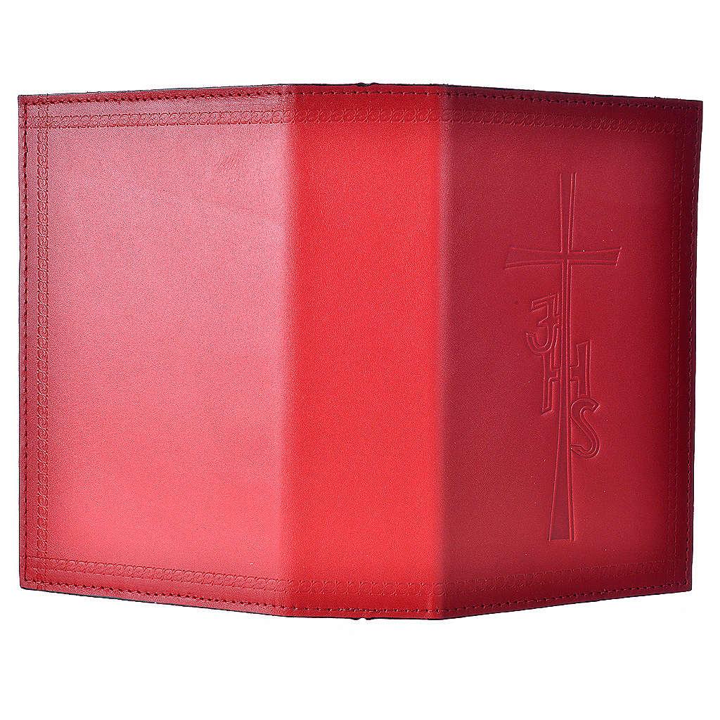Custodia lit ore 4 vol pelle rosso scritta lato 4