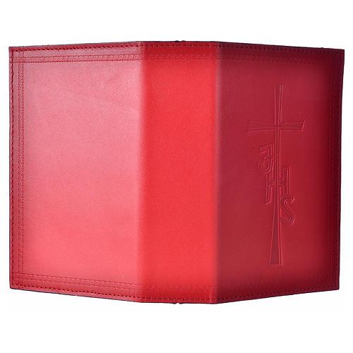 Custodia lit ore 4 vol pelle rosso scritta lato 2