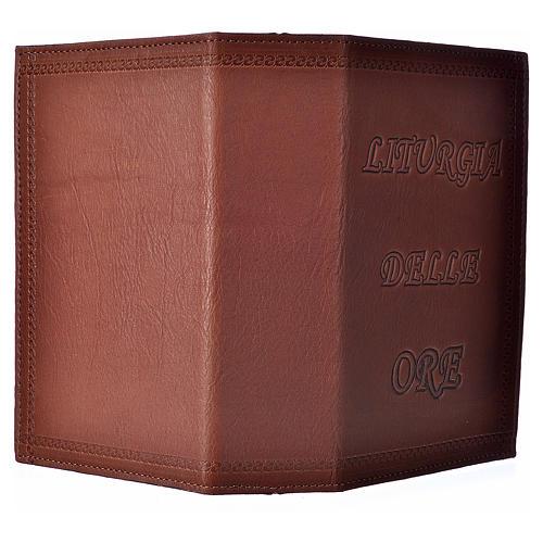 Étui liturgie heures 4 vol. cuir brun impression 2