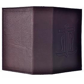Étui liturgie heures 4 vol. cuir brun foncé Ancre du Salut s2