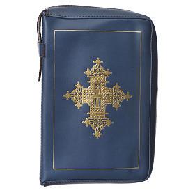Couverture liturgie heures 4 vol. croix or bleu Bethléem s1
