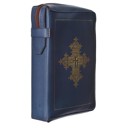 Custodia lit. ore 4 vol. croce oro blu Bethléem 3