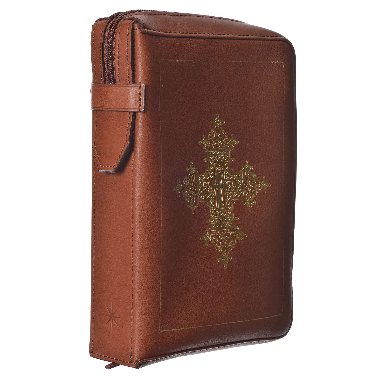 Custodia lit. ore 4 vol. croce oro marrone Bethléem 4