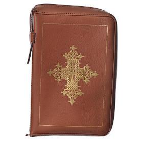 Custodia lit. ore 4 vol. croce oro marrone Bethléem s1