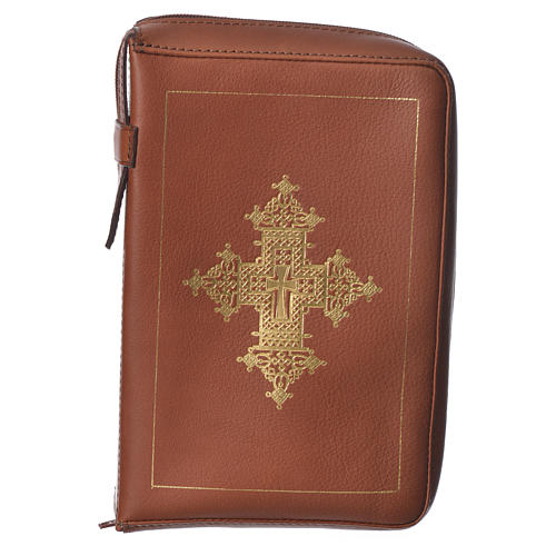 Custodia lit. ore 4 vol. croce oro marrone Bethléem 1