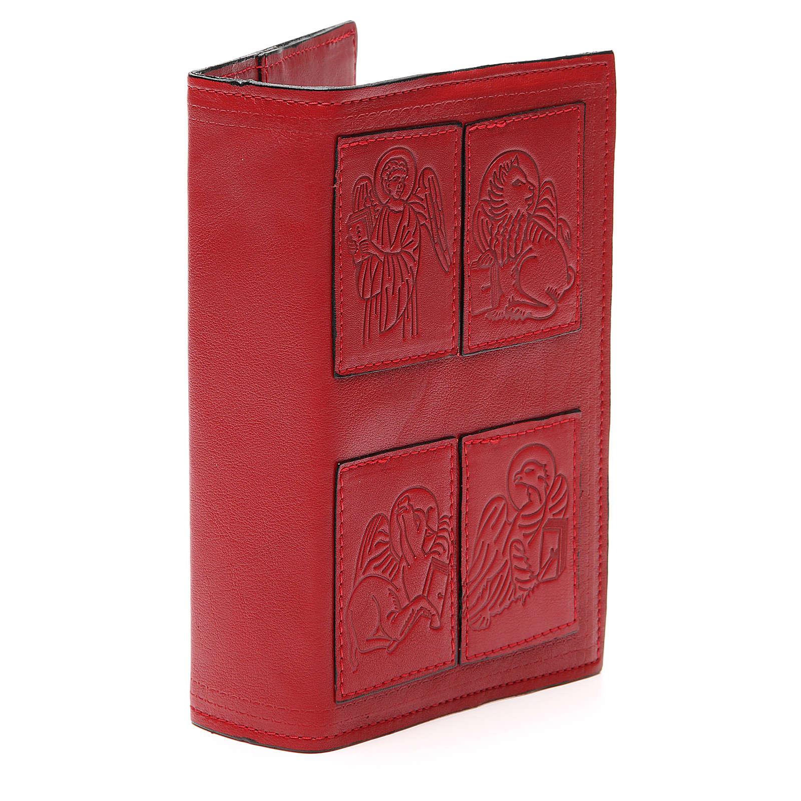 Couverture Lit. Heures 4 vol. Évangélistes cuir rouge 4