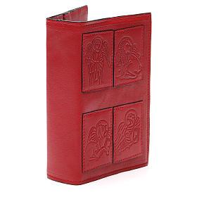 Couverture Lit. Heures 4 vol. Évangélistes cuir rouge s4