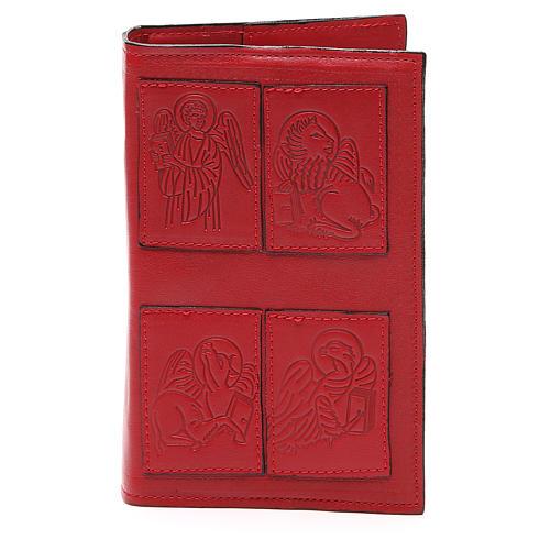 Couverture Lit. Heures 4 vol. Évangélistes cuir rouge 1