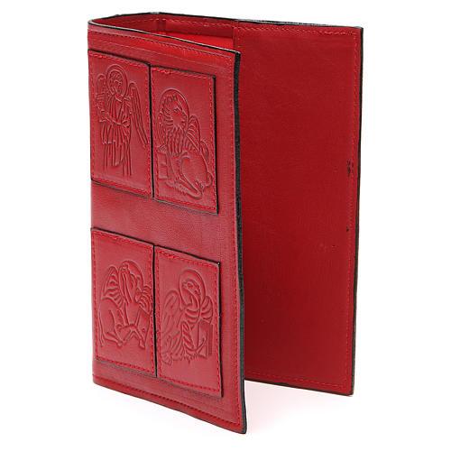 Couverture Lit. Heures 4 vol. Évangélistes cuir rouge 2