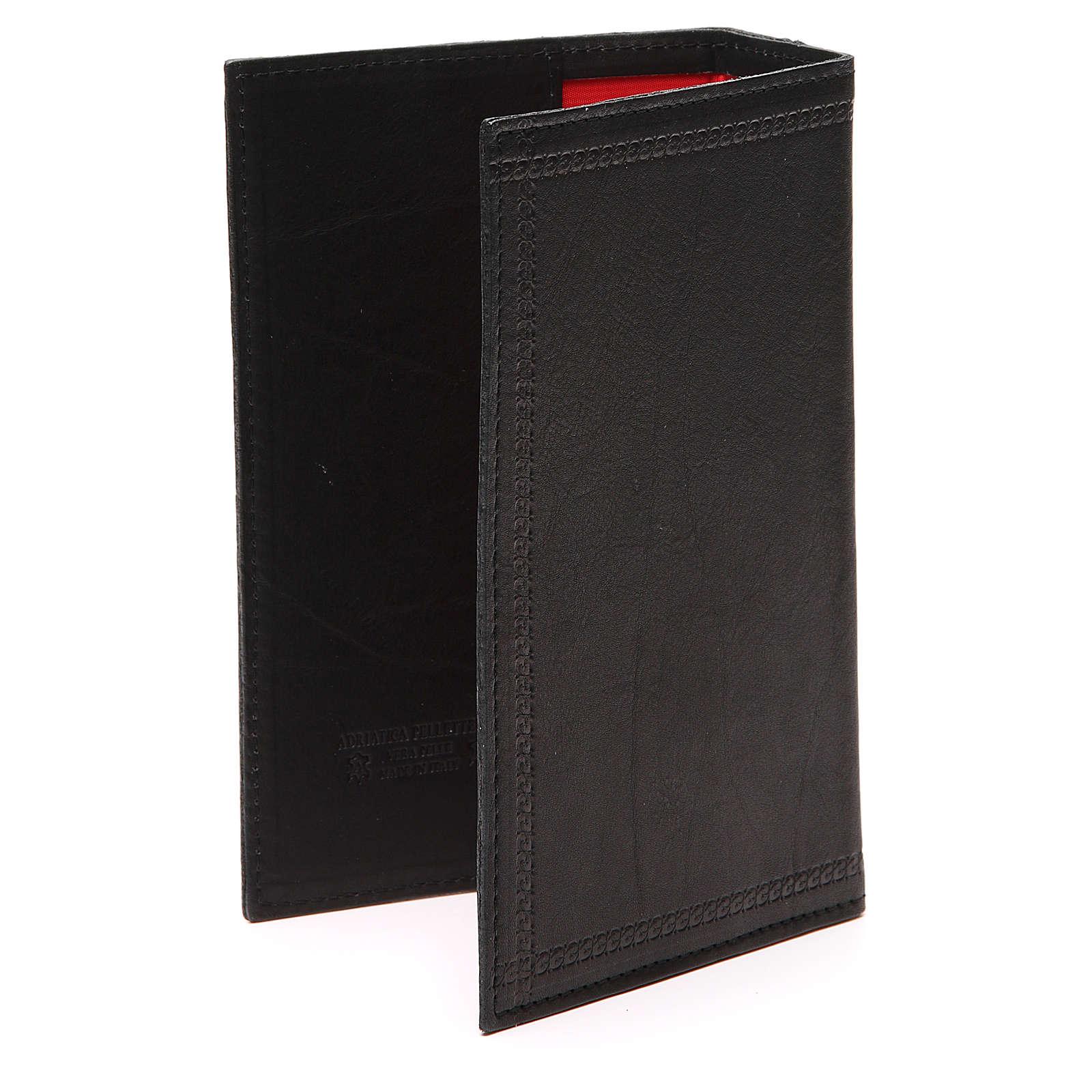 Custodia Lit. Ore 4 vol. scritta impressa pelle nera 4