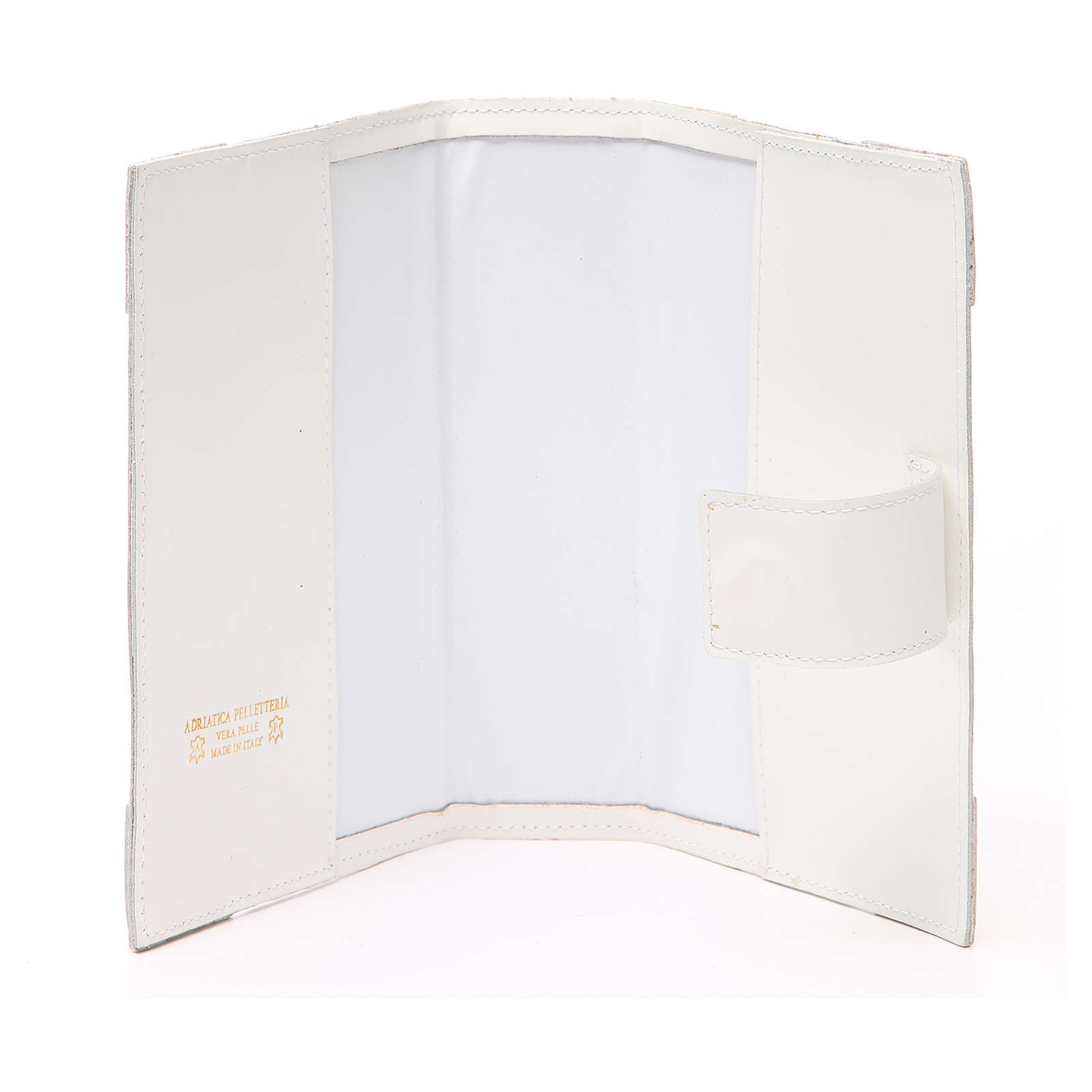 Couverture Lit. Heures 4 vol. cuir blanc Alpha Oméga aimant 4