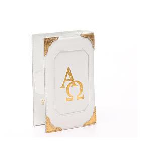 Couverture Lit. Heures 4 vol. cuir blanc Alpha Oméga aimant s13