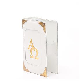 Couverture Lit. Heures 4 vol. cuir blanc Alpha Oméga aimant s2