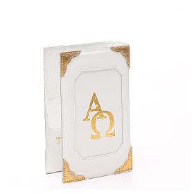 Couverture Lit. Heures 4 vol. cuir blanc Alpha Oméga aimant s3