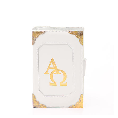 Couverture Lit. Heures 4 vol. cuir blanc Alpha Oméga aimant 11