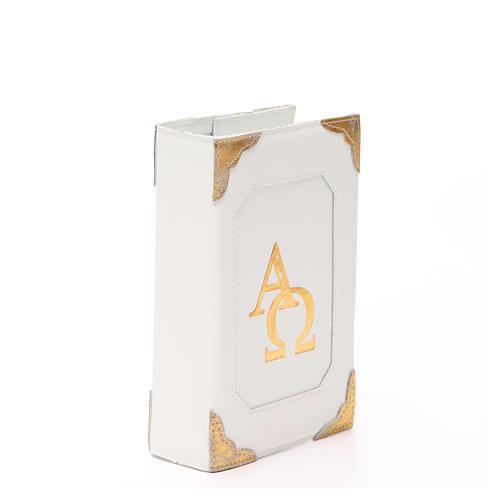 Couverture Lit. Heures 4 vol. cuir blanc Alpha Oméga aimant 14
