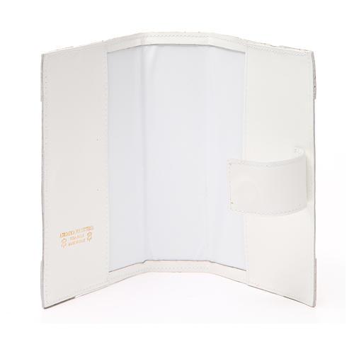 Couverture Lit. Heures 4 vol. cuir blanc Alpha Oméga aimant 15
