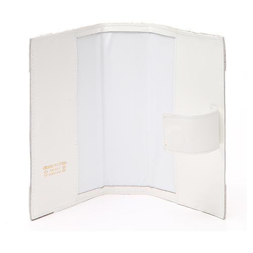 Couverture Lit. Heures 4 vol. cuir blanc Alpha Oméga aimant 5