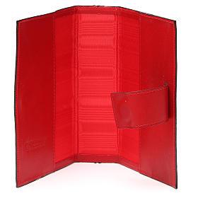 Couv. Lit. Heures 4 vol. cuir rouge Giotto Cène Pictographie s5