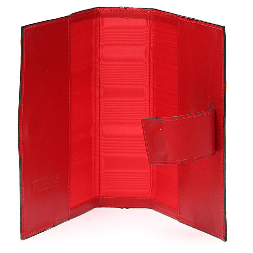 Couv. Lit. Heures 4 vol. cuir rouge Giotto Cène Pictographie 5