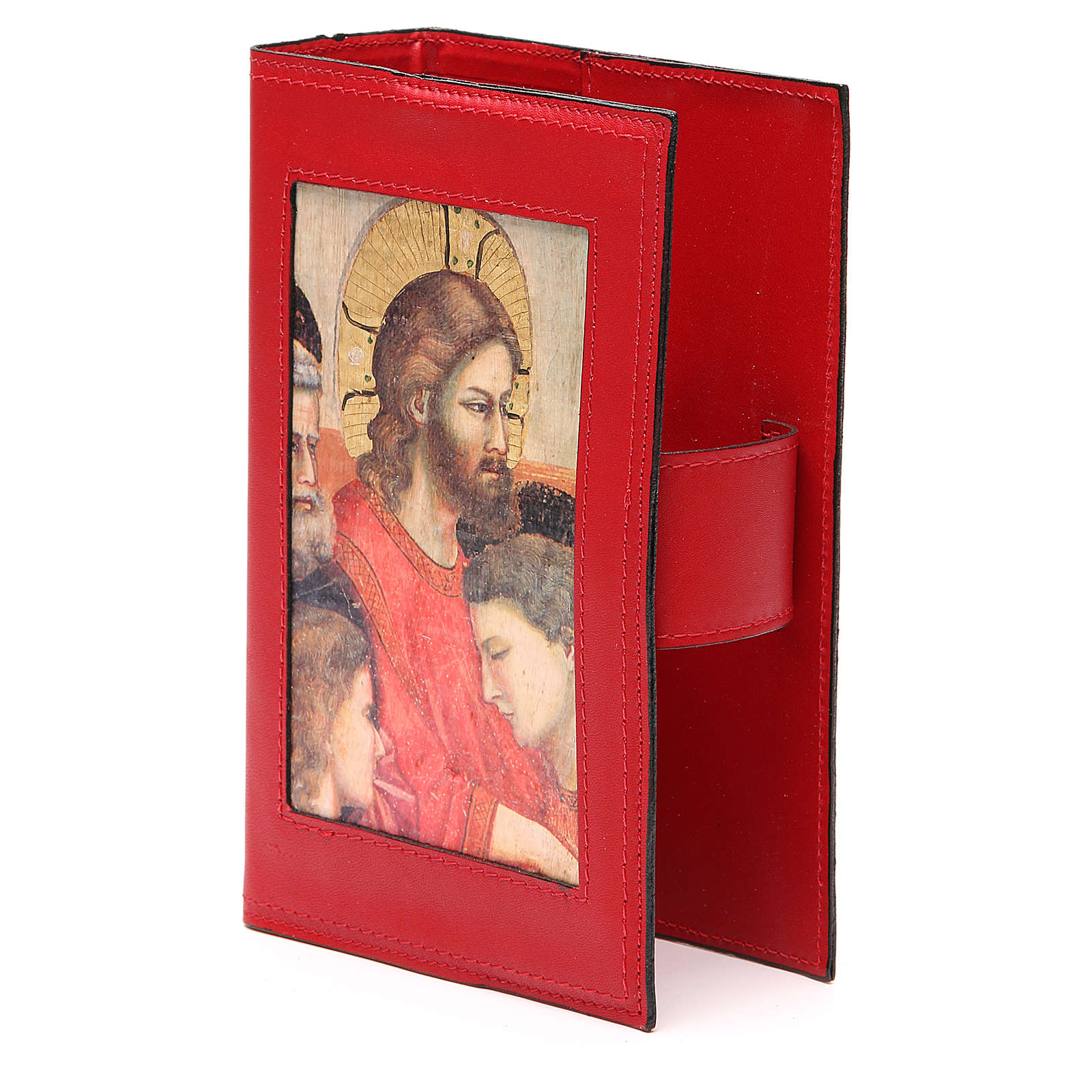Copribreviario 4 vol. pelle rossa Giotto Ultima Cena Pictografia 4