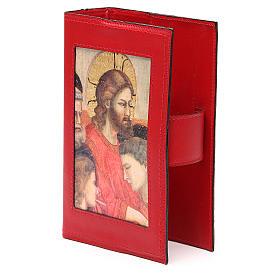 Copribreviario 4 vol. pelle rossa Giotto Ultima Cena Pictografia s2